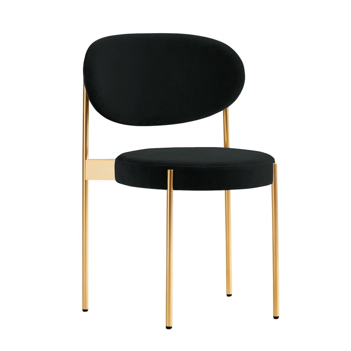 Chair 430 by Verpan in brass / dark green (Harald 3/982)
