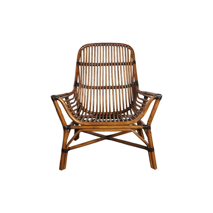 Colony Lounge Chair, brown by House Doctor