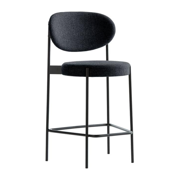 Bar chair 430 by Verpan in black/ anthracite (Hallingdal 65/180)