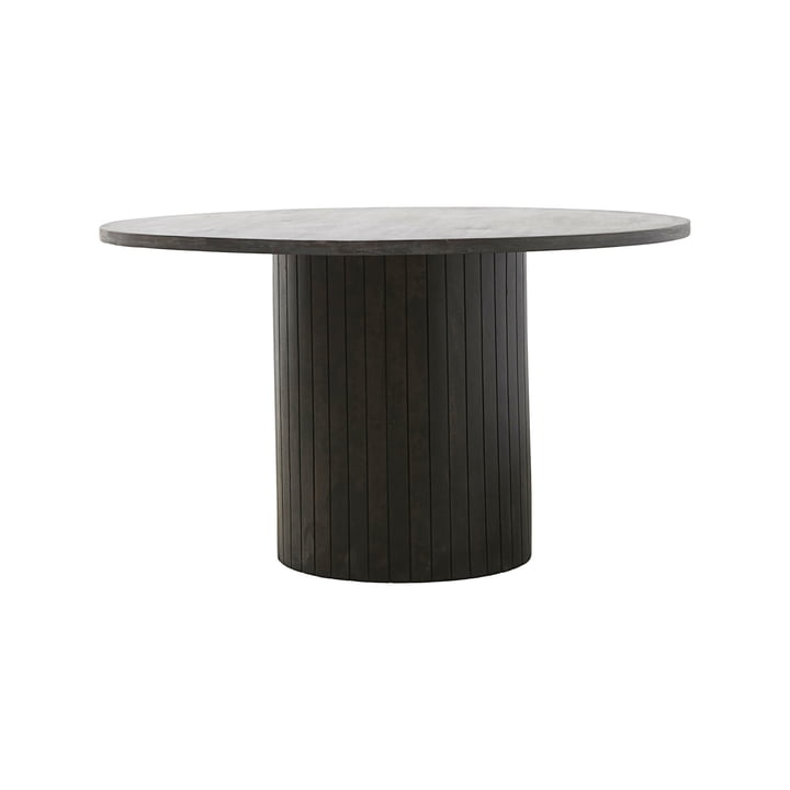 Pillar dining table Ø 130 x H 74 cm by House Doctor in black