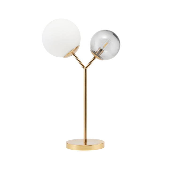 Twice table lamp H 42 cm by House Doctor in brass