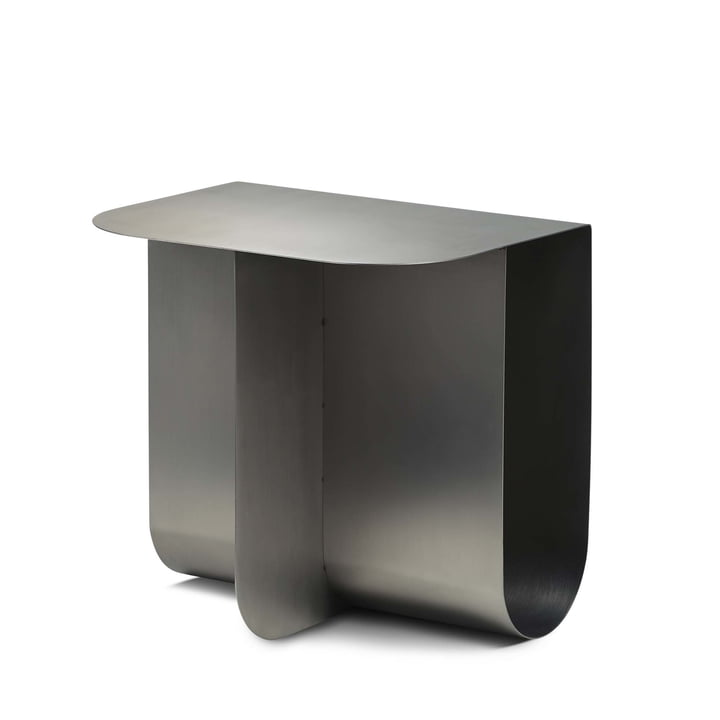 Mass side table, stainless steel by Northern