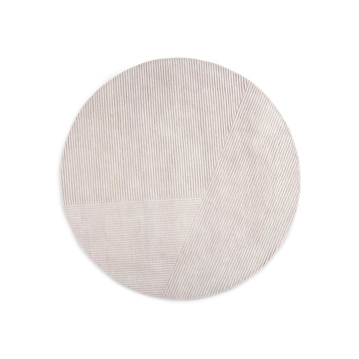 Row carpet, round / light grey from Northern