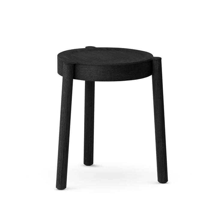 Pal stacking stool, black by Northern