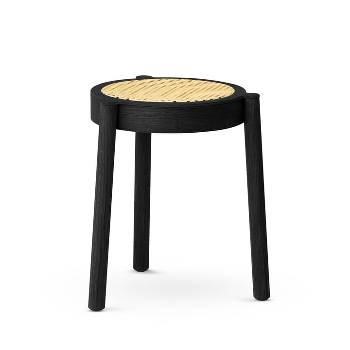 Pal stacking stool, wicker / black by Northern