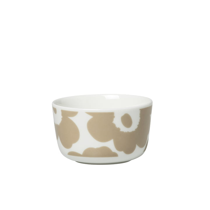 Oiva Unikko Bowl 250 ml, white / beige by Marimekko