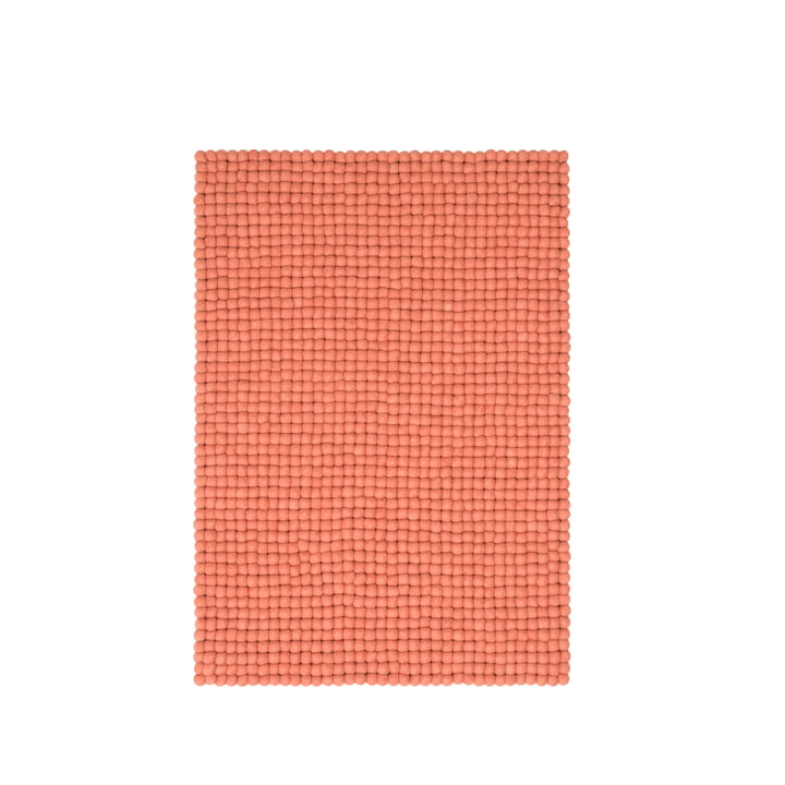 Lea felt ball carpet 70 × 100 cm from myfelt in salmon