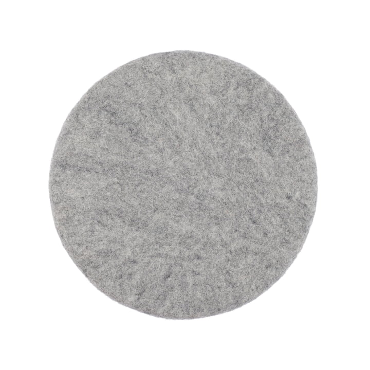 Carl seat cover flat Ø 36 cm from myfelt in mottled grey