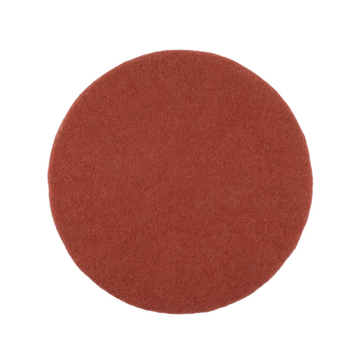 Lora seat cover flat Ø 36 cm from myfelt in rust red