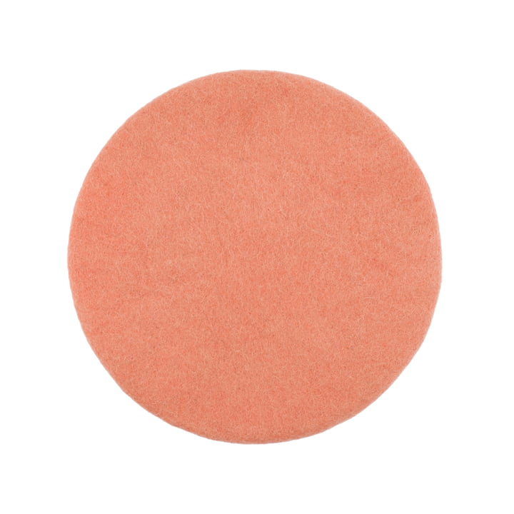 Lea seat cover flat Ø 36 cm from myfelt in salmon colour