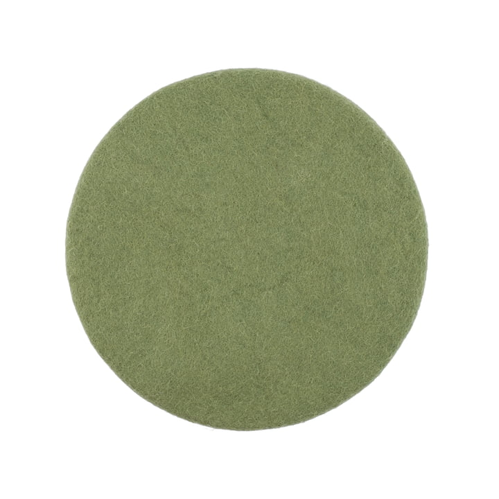 Kaspar seat cover flat Ø 36 cm from myfelt in dark green