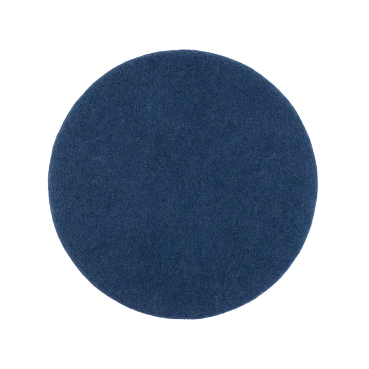 Alva seat cover flat Ø 36 cm from myfelt in dark blue