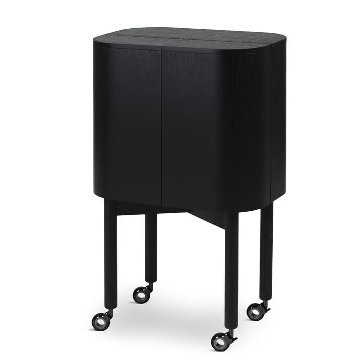 Loud bar trolley on wheels from Northern in black