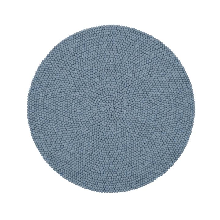 Mia felt ball carpet Ø 140 cm by myfelt in light blue