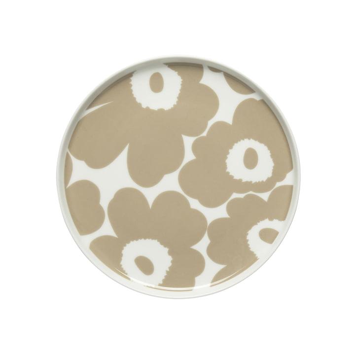 Oiva Unikko plate Ø 20 cm, white / beige by Marimekko