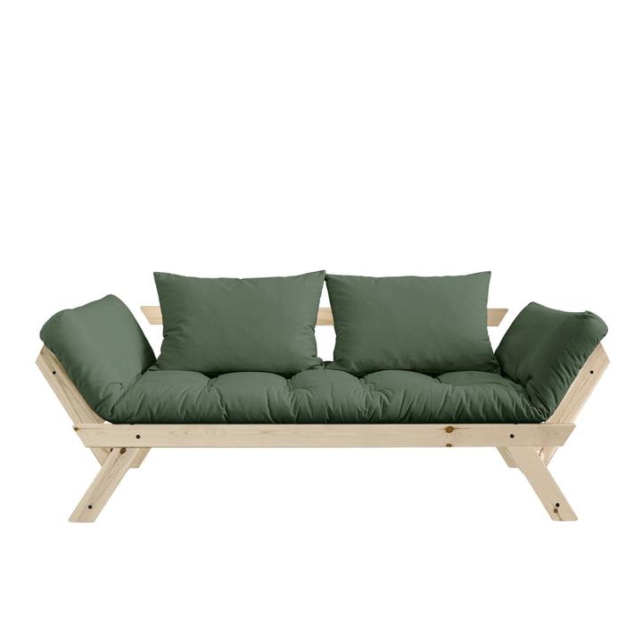Bebop Sofa from Karup Design in natural pine / olive green