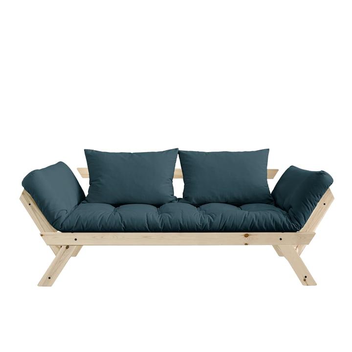 Bebop Sofa from Karup Design in natural pine / petrol blue