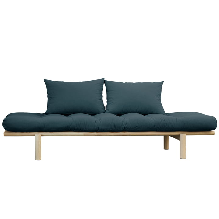 Pace Daybed from Karup Design in natural pine / petrol blue