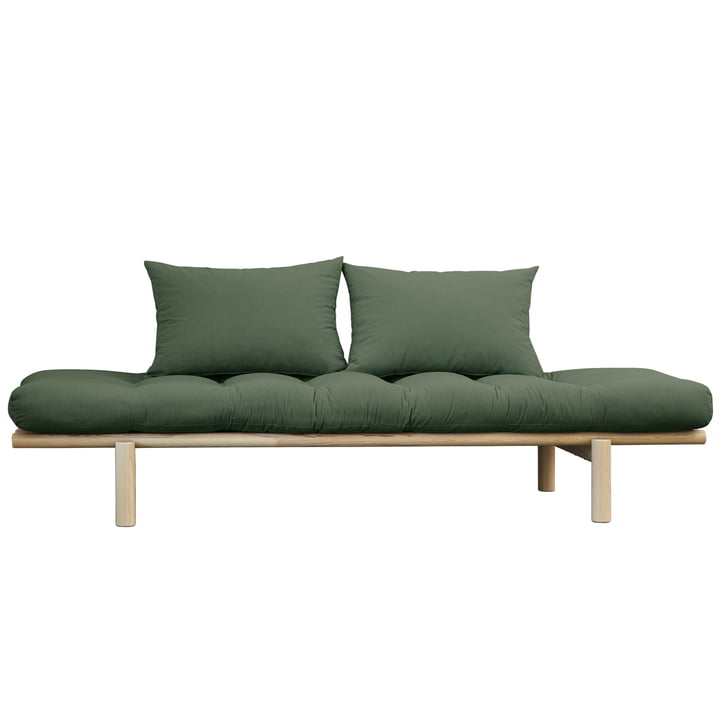 Pace Daybed from Karup Design in natural pine / olive green