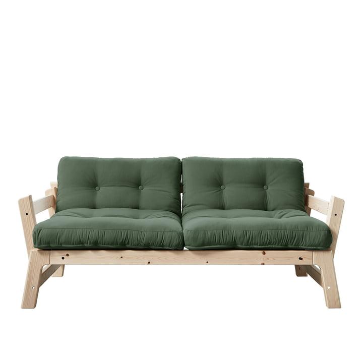 Step Sofa Karup Design in natural pine / olive green