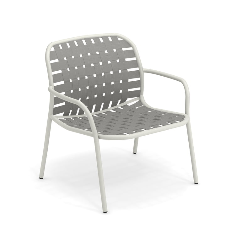 Yard Lounge chair from Emu in white / grey-green