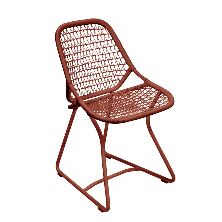 Sixties Chair, ochre red by Fermob