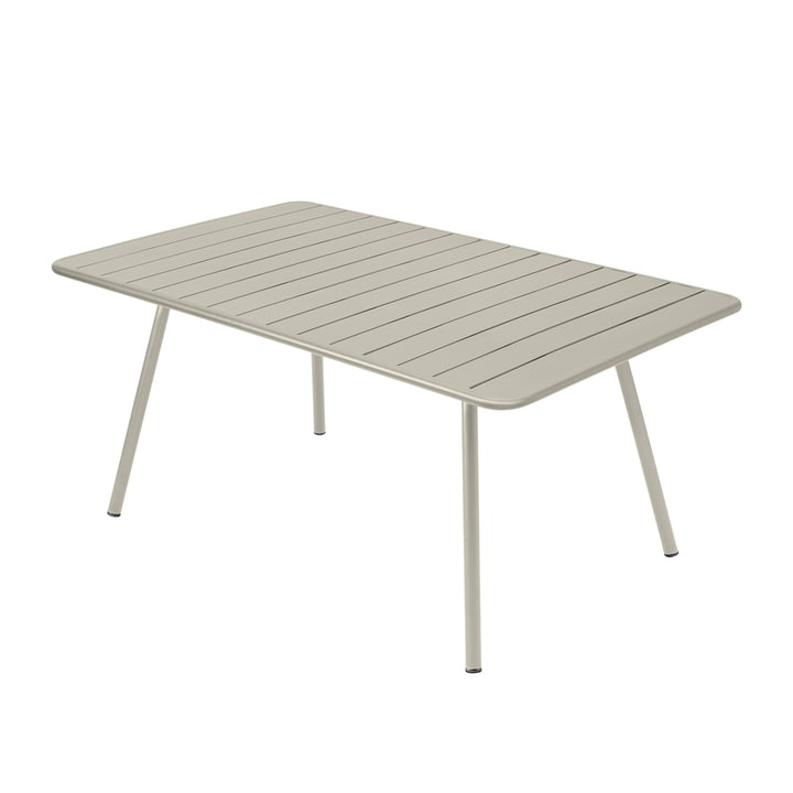 Luxembourg Table, rectangular, 165 x 100 cm, clay grey by Fermob