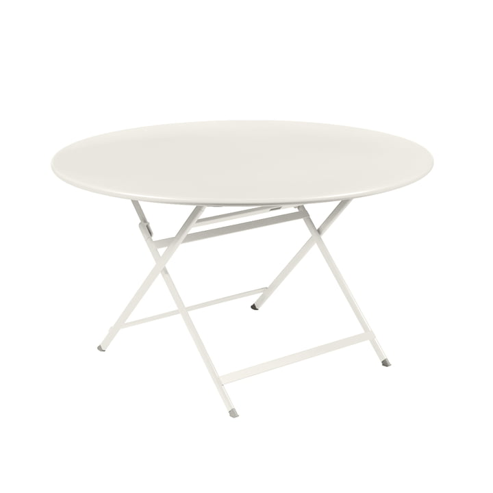 Caractére, folding table. Ø 128 cm, clay gray from Fermob