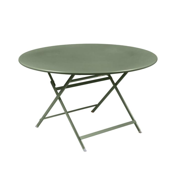 Caractére, folding table. Ø 128 cm, cactus by Fermob