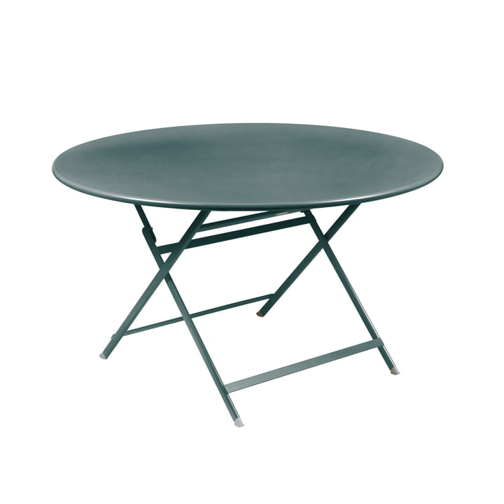 Caractére Folding table. Ø 128 cm, thunderstorm grey from Fermob