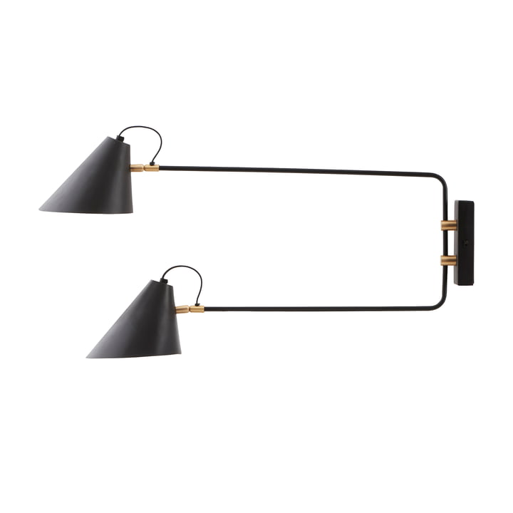 Club wall lamp from House Doctor in double / black