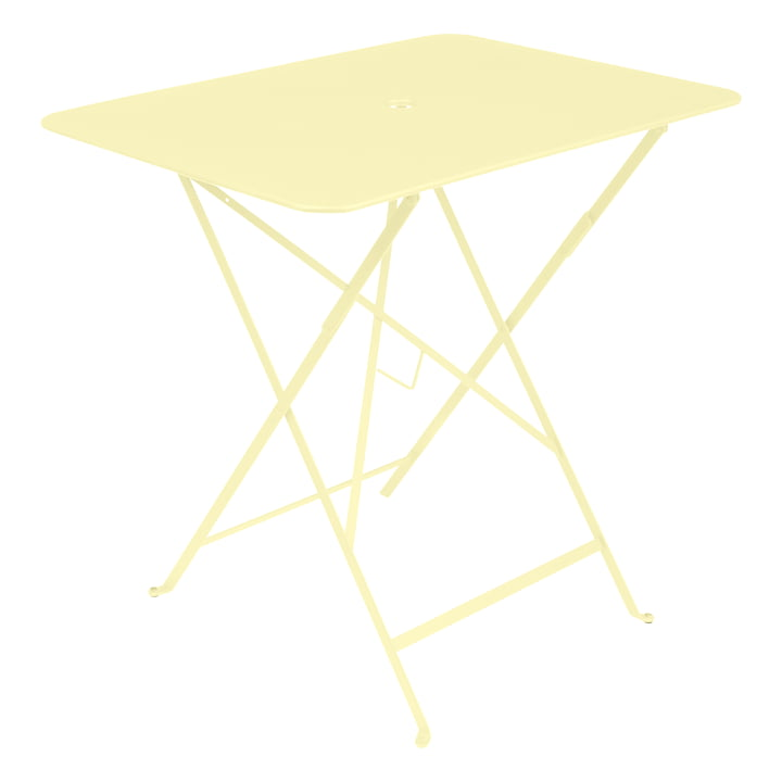Bistro Folding table, rectangular, 77 x 57 cm, lemon sorbet by Fermob
