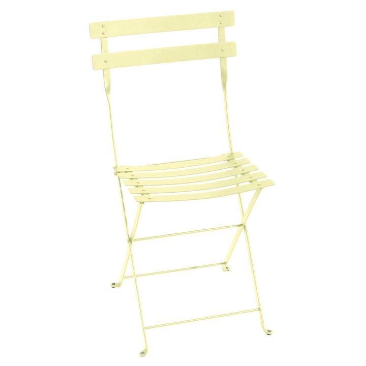 Bistro Folding chair metal, lemon sorbet by Fermob
