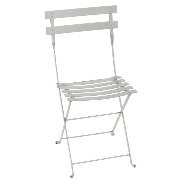 Bistro Metal folding chair, clay grey by Fermob