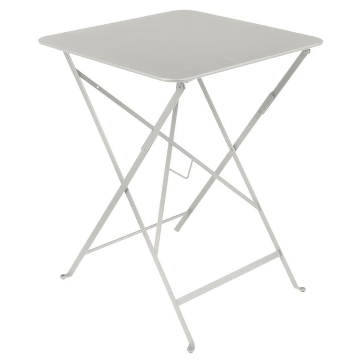 Bistro folding table, 57 x 57 cm, clay grey by Fermob