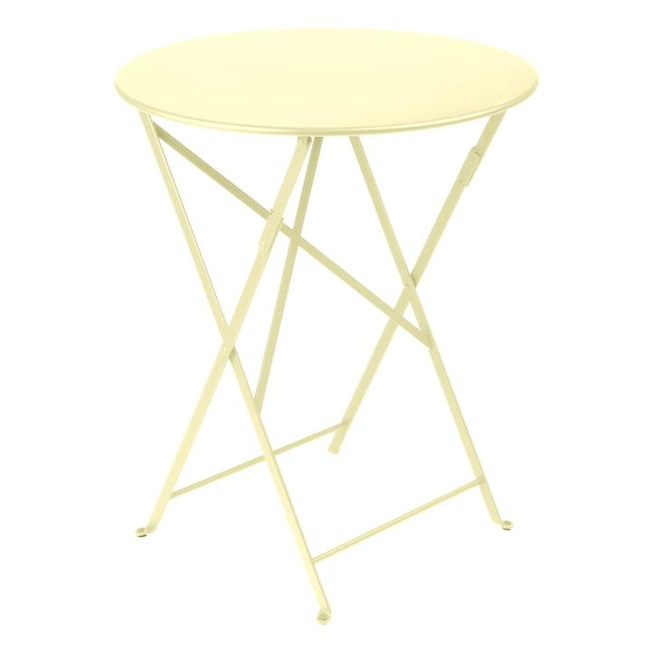 Bistro Folding table Ø 60 cm, lemon sorbet by Fermob
