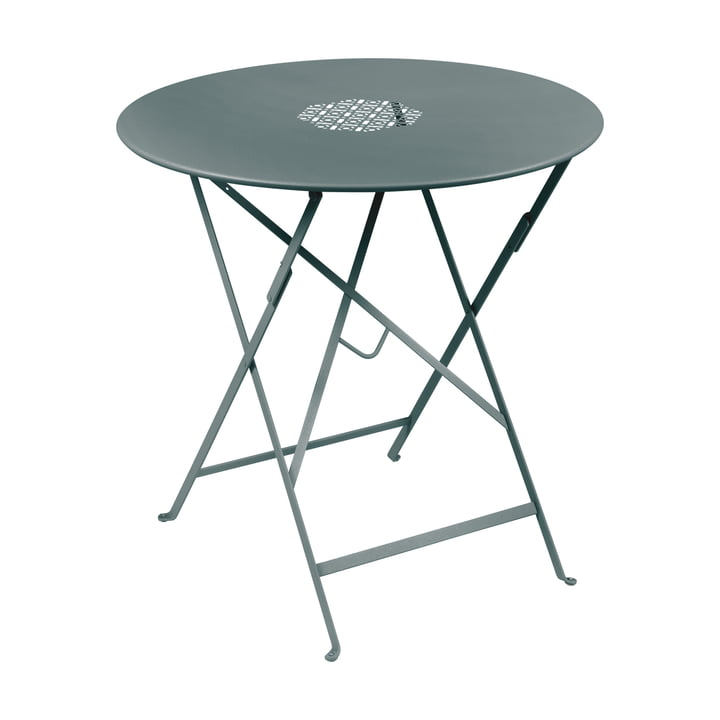 Lorette folding table Ø 77 cm, storm gray by Fermob
