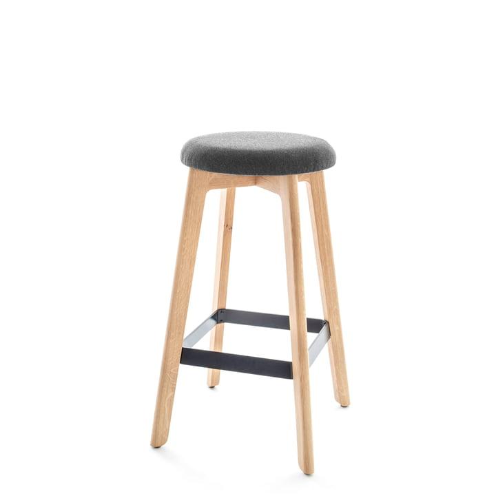 Chairman bar stool, natural oak / anthracite