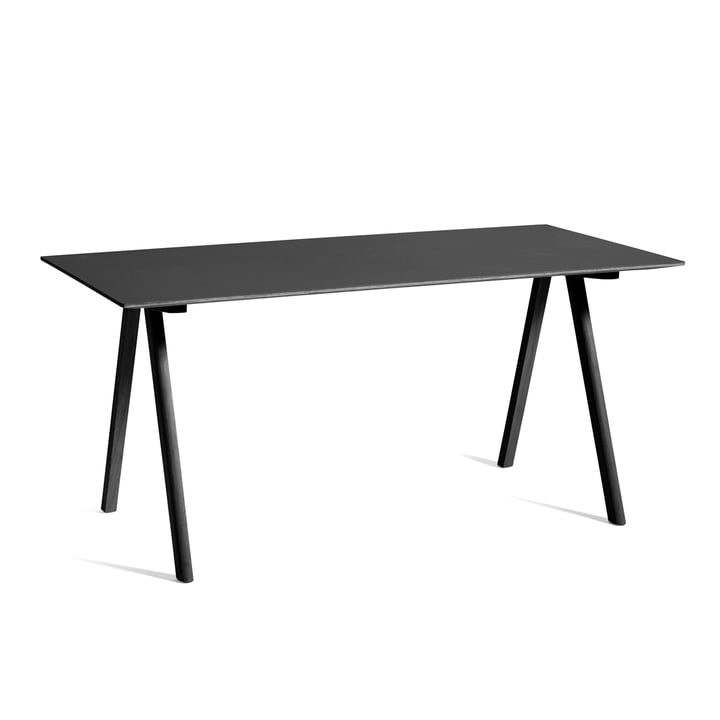 Copenhague CPH10 Table, 160 x 80 cm, black stained oak / black from Hay
