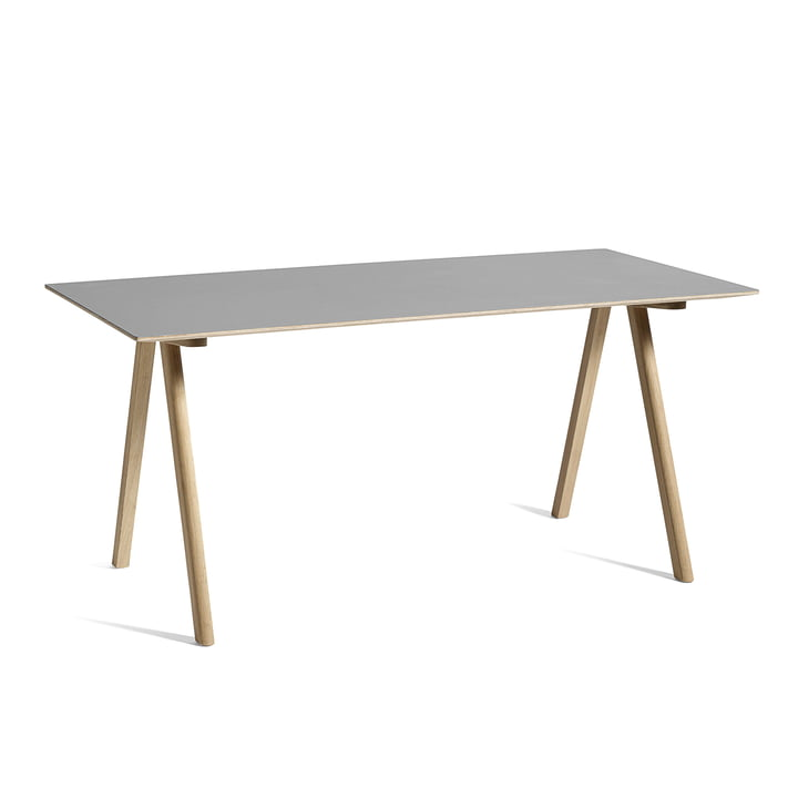 Copenhague CPH10 Table, 160 x 80 cm, oak / grey from Hay