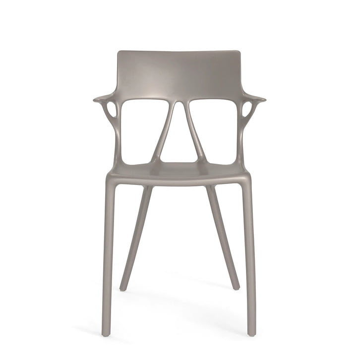 AI chair by Kartell in metallic grey