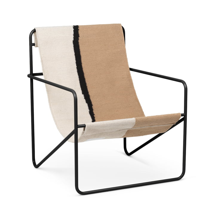 Desert Chair, black / floor by ferm Living