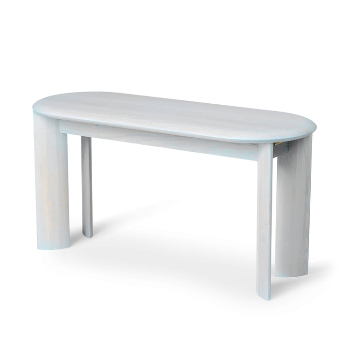 Bevel Bench, 90 x 35 cm, oak ice blue oiled by ferm Living