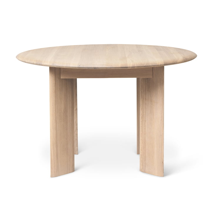 Bevel Table, Ø 117 x H 73 cm, white oiled oak by ferm Living