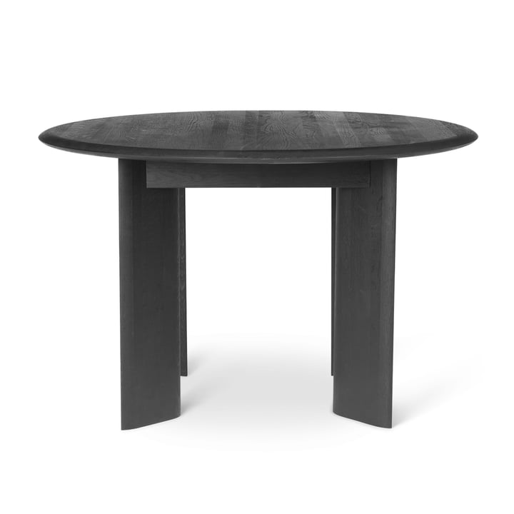 Bevel table, Ø 117 x H 73 cm, black oiled oak by ferm Living