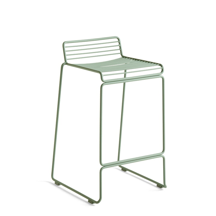 Hee Barstool low, fall green from Hay
