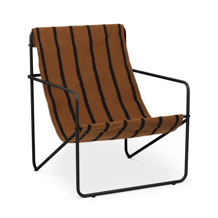 Desert Chair, black / stripe by ferm Living