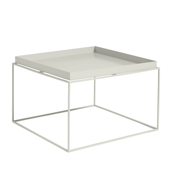 Tray Table square, 60 x 60 cm, warm grey from Hay