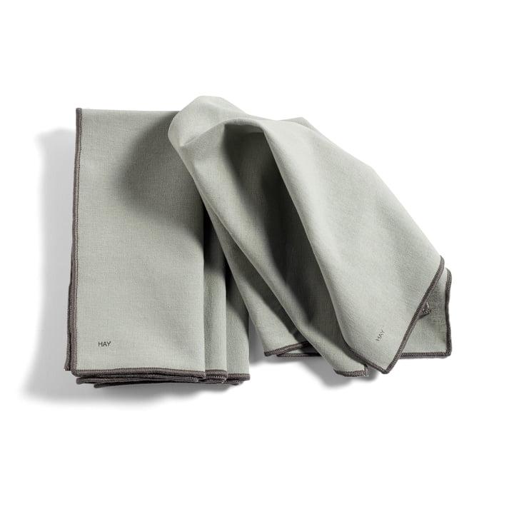 Contour Napkin, 40 x 40 cm, grey (set of 4) from Hay