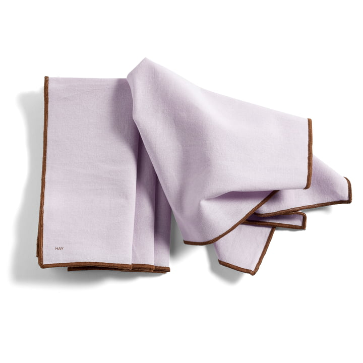 Contour Napkin, 40 x 40 cm, lavender (set of 4) from Hay